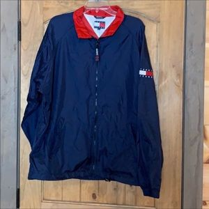Tommy Hilfiger blue windbreaker jacket Size XL